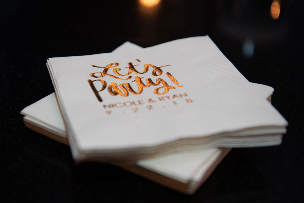 a decorative napkin
